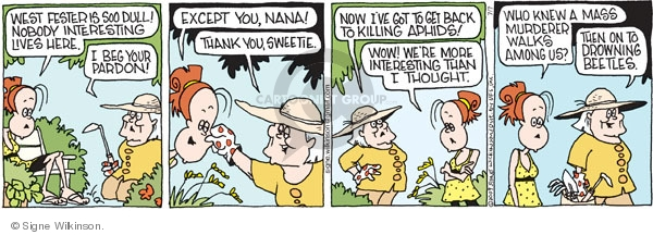 Comic Strip Signe Wilkinson  Family Tree 2009-07-07 aphid