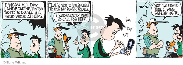 Comic Strip Signe Wilkinson  Family Tree 2009-07-31 tap