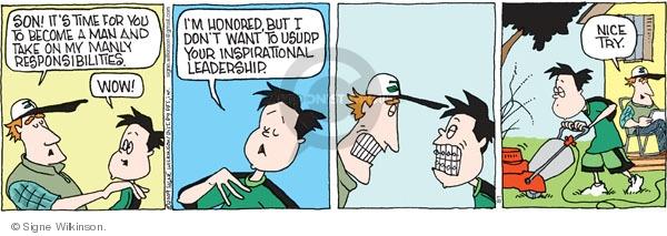 Cartoonist Signe Wilkinson  Family Tree 2009-08-01 responsibility