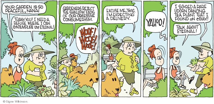 Comic Strip Signe Wilkinson  Family Tree 2009-08-16 plant
