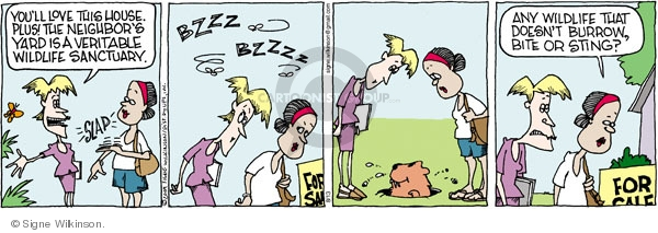 Comic Strip Signe Wilkinson  Family Tree 2009-08-13 wildlife