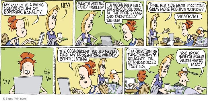Comic Strip Signe Wilkinson  Family Tree 2009-08-23 exam test