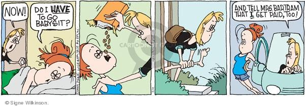 Cartoonist Signe Wilkinson  Family Tree 2009-08-18 babysit