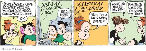 Cartoonist Signe Wilkinson  Family Tree 2009-08-21 babysit