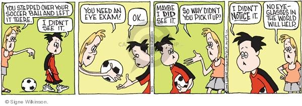 Comic Strip Signe Wilkinson  Family Tree 2009-08-25 exam