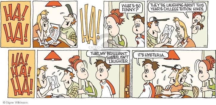 Comic Strip Signe Wilkinson  Family Tree 2009-09-06 funny