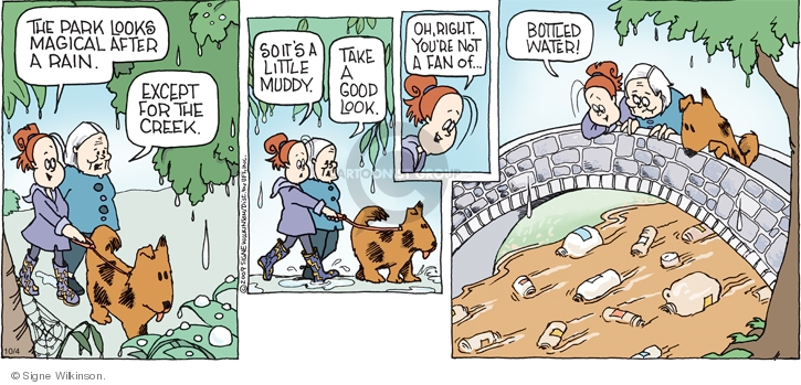 Comic Strip Signe Wilkinson  Family Tree 2009-10-04 pollution