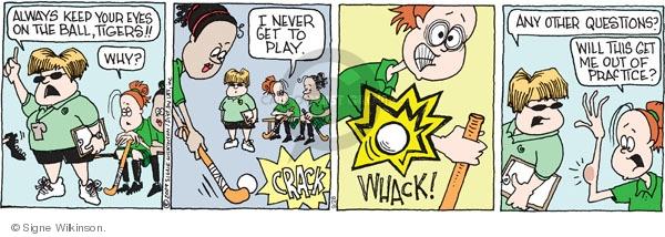 Comic Strip Signe Wilkinson  Family Tree 2009-09-28 athletics