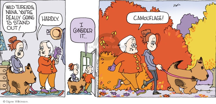 Cartoonist Signe Wilkinson  Family Tree 2009-10-18 outdoor recreation