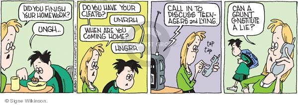 Comic Strip Signe Wilkinson  Family Tree 2009-10-13 teen