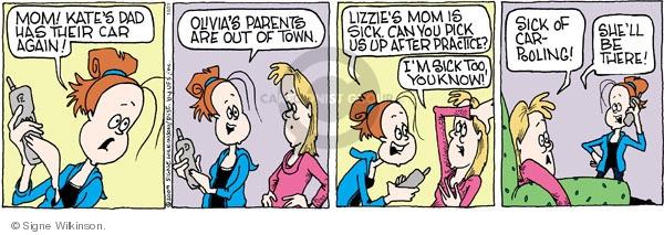 Comic Strip Signe Wilkinson  Family Tree 2009-10-21 mom