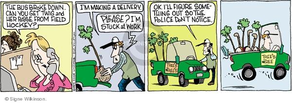 Comic Strip Signe Wilkinson  Family Tree 2009-10-22 mom