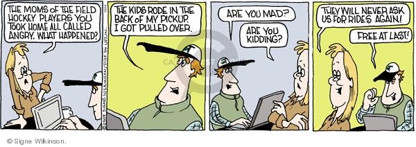 Comic Strip Signe Wilkinson  Family Tree 2009-10-24 mom