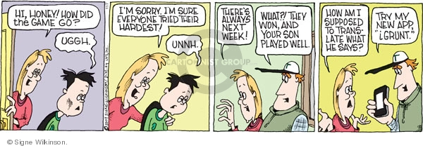 Comic Strip Signe Wilkinson  Family Tree 2009-11-07 teen