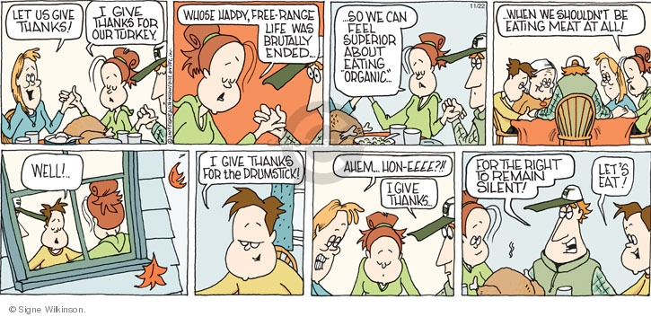 Comic Strip Signe Wilkinson  Family Tree 2009-11-22 Thanksgiving family