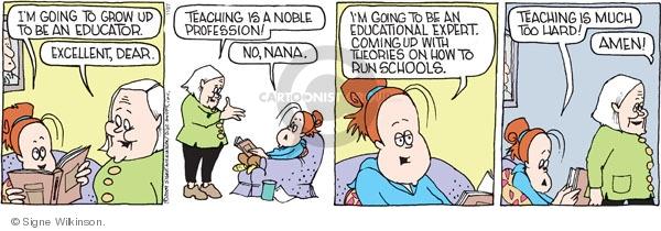 Comic Strip Signe Wilkinson  Family Tree 2009-11-27 run