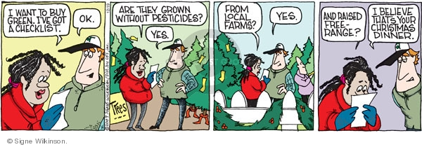 Comic Strip Signe Wilkinson  Family Tree 2009-12-19 environment