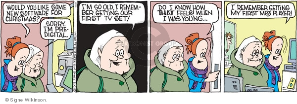 Comic Strip Signe Wilkinson  Family Tree 2009-12-22 get old