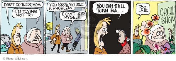Comic Strip Signe Wilkinson  Family Tree 2010-01-11 turn