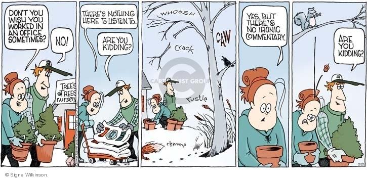Comic Strip Signe Wilkinson  Family Tree 2010-02-21 profession