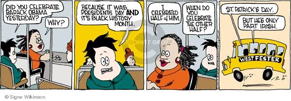 Comic Strip Signe Wilkinson  Family Tree 2010-02-16 because