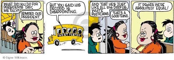 Comic Strip Signe Wilkinson  Family Tree 2010-02-17 Barack Obama