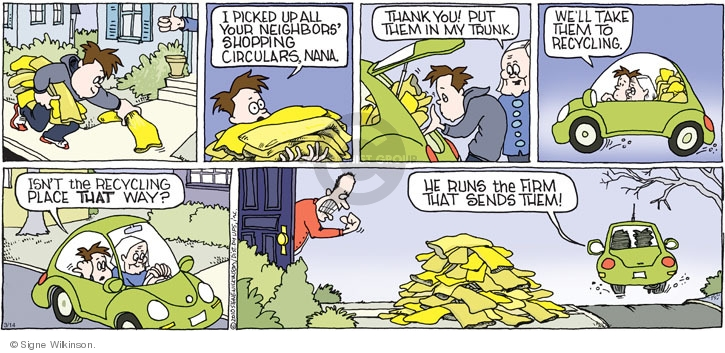 Comic Strip Signe Wilkinson  Family Tree 2010-03-14 recycle