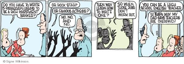 Comic Strip Signe Wilkinson  Family Tree 2010-03-18 banker