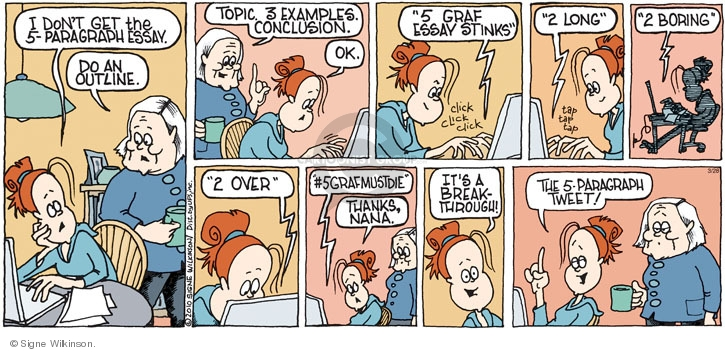 Comic Strip Signe Wilkinson  Family Tree 2010-03-28 social network