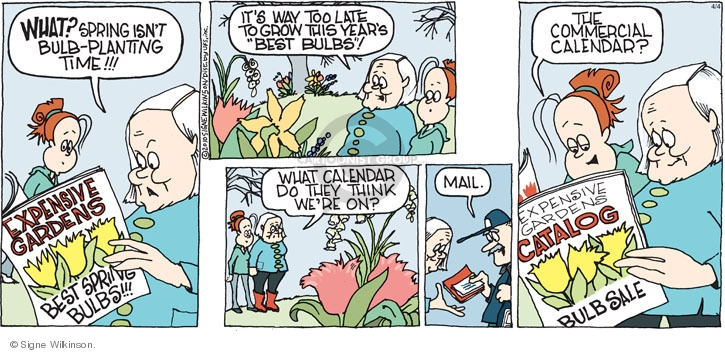 Comic Strip Signe Wilkinson  Family Tree 2010-04-04 expensive