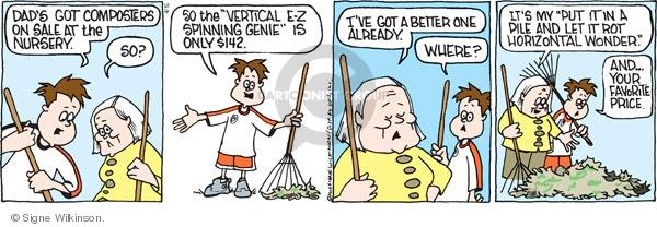 Comic Strip Signe Wilkinson  Family Tree 2010-04-16 gardener