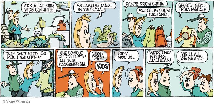 Comic Strip Signe Wilkinson  Family Tree 2010-05-02 fashion