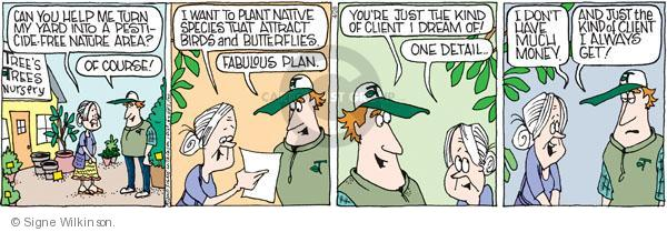 Comic Strip Signe Wilkinson  Family Tree 2010-04-28 landscaper