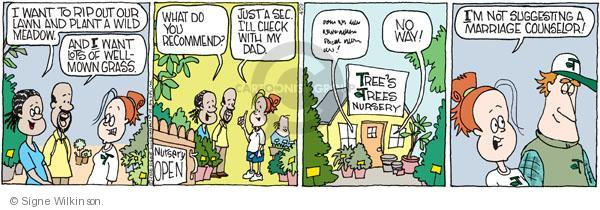 Comic Strip Signe Wilkinson  Family Tree 2010-04-29 marriage