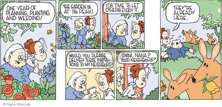 Comic Strip Signe Wilkinson  Family Tree 2010-05-09 plant