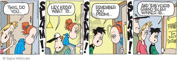 Comic Strip Signe Wilkinson  Family Tree 2010-05-03 adolescence
