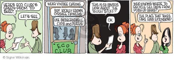 Comic Strip Signe Wilkinson  Family Tree 2010-05-11 green