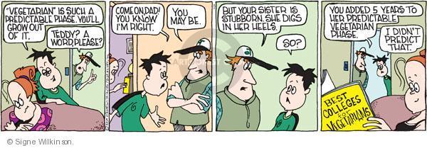 Comic Strip Signe Wilkinson  Family Tree 2010-05-26 heel