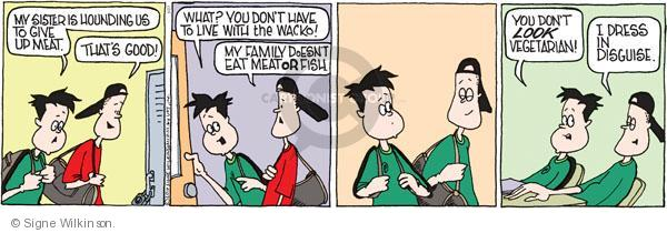 Comic Strip Signe Wilkinson  Family Tree 2010-05-27 eat