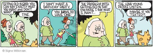 Comic Strip Signe Wilkinson  Family Tree 2010-06-02 grandparent