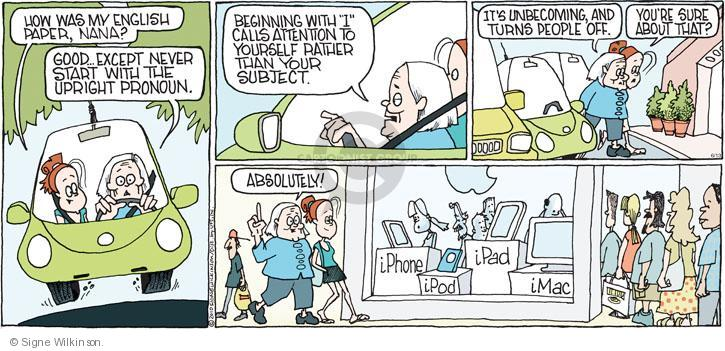 Comic Strip Signe Wilkinson  Family Tree 2010-06-13 technology