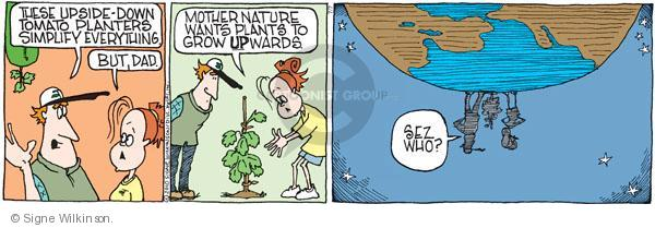 Comic Strip Signe Wilkinson  Family Tree 2010-07-07 organic food
