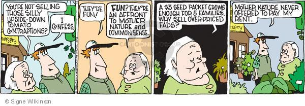 Comic Strip Signe Wilkinson  Family Tree 2010-07-09 food store