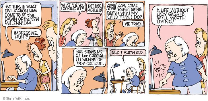 Cartoonist Signe Wilkinson  Family Tree 2010-07-11 mothers and daughters