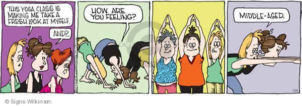 Comic Strip Signe Wilkinson  Family Tree 2010-07-24 fitness