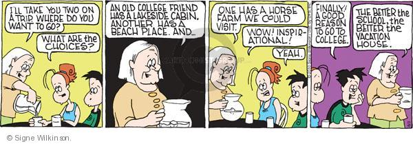 Comic Strip Signe Wilkinson  Family Tree 2010-08-03 higher education