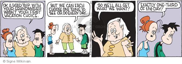 Comic Strip Signe Wilkinson  Family Tree 2010-08-04 grandparent