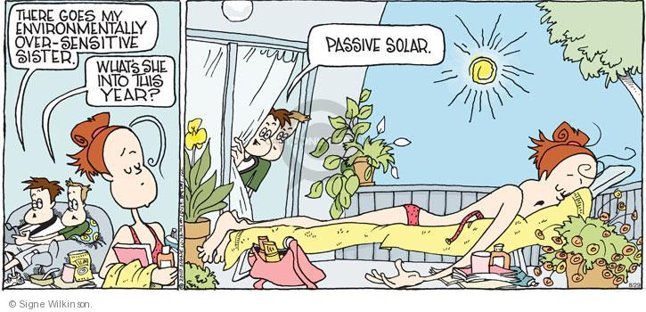 Comic Strip Signe Wilkinson  Family Tree 2010-08-29 environment