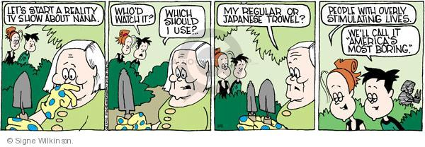 Comic Strip Signe Wilkinson  Family Tree 2010-09-06 senior