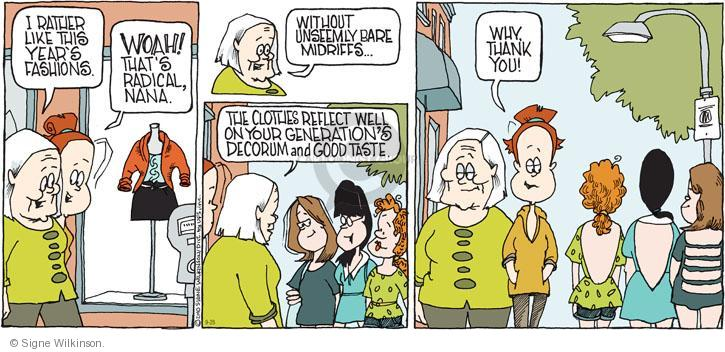 Comic Strip Signe Wilkinson  Family Tree 2010-09-26 fashion
